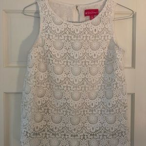 Lily Pulitzer X Target white lace tank top